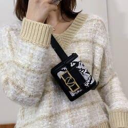 2019 женская сумка на пояс из искусственной кожи со змеиным рисунком, Женская мини-сумка с бананом на ремне, роскошная дизайнерская женская
