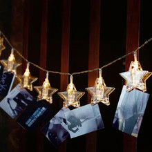 10/20/30/50 Photo Clip USB LED String Lights Fairy Lights Outdoor Battery Operated Garland Christmas Decoration Party Wedding(China)