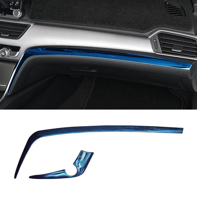 Lsrtw2017 Car Dashboard Trims Decoration for <font><b>Honda</b></font> <font><b>Accord</b></font> <font><b>2018</b></font> 2019 2020 10th <font><b>Accord</b></font> Interior <font><b>Accessories</b></font> Mouldings image