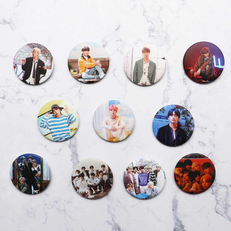 KPOP Bangtan Boys Pins Album Brooch Badge Accessories For Clothes Hat Backpack Decoration