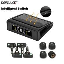 TPMS Wireless Car Intelligent Tire Pressure Monitoring System Solar Power USB charge LED display 4 Internal and external sensors careud t801 nf auto car tpms tire pressure solar panel monitoring system with 4 internal sensors