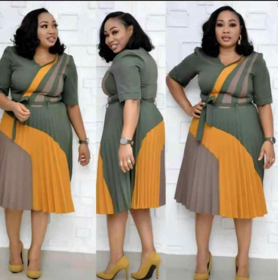 2019 nuovo elegent estate di stile di modo africano di stampa delle donne più il vestito da formato