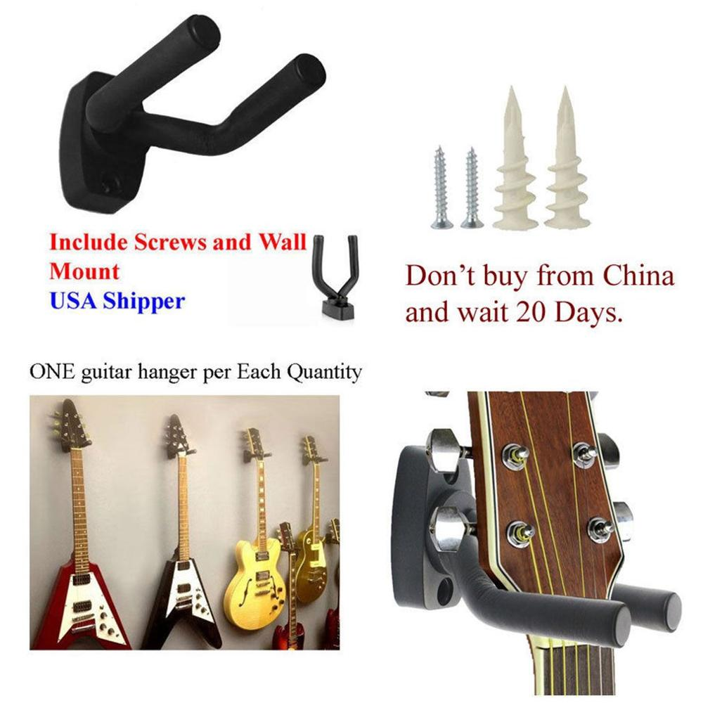 Wall Mount Guitar Hanger Hook Non-slip Holder For Guitar Accessories And Parts Display Rack Foam Coated Adjustable