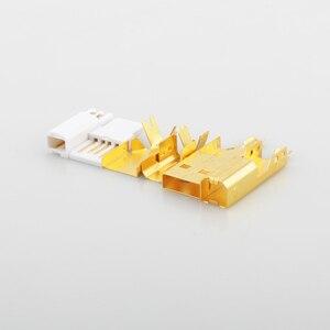 Image 3 - Connecteur USB plaqué or haut de gamme USB A + prise de USB B de Type A B pour câble USB bricolage Taiwan