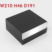 Amplificador de tubo de aluminio completo para chasis de auriculares, carcasa de amplificador, Clase A trasera, tamaño pequeño, W210, H45, L191