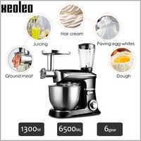 XEOLEO Stand mixer mixer fleischwolf 3in1 küchenmaschine 6.5L Teig kneter mischer Planeten Mixer Küche maschinen