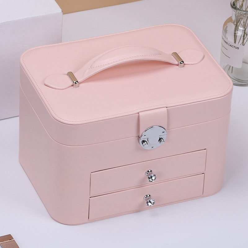 Image 5 - Jewelry Box Large Capacity Jewelry Organizer Multi Layer Makeup  Case Multi Functional Necklace Rings Jewelry BoxesJewelry Packaging