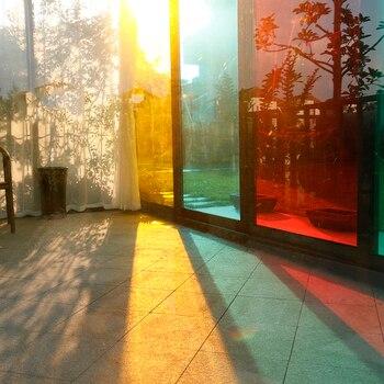 Deseos SUNICE Festival de Diseño de vidrio de imagen DIY ventana películas fácil de instalar, tinte para decoración edificio Slef-adhesivo