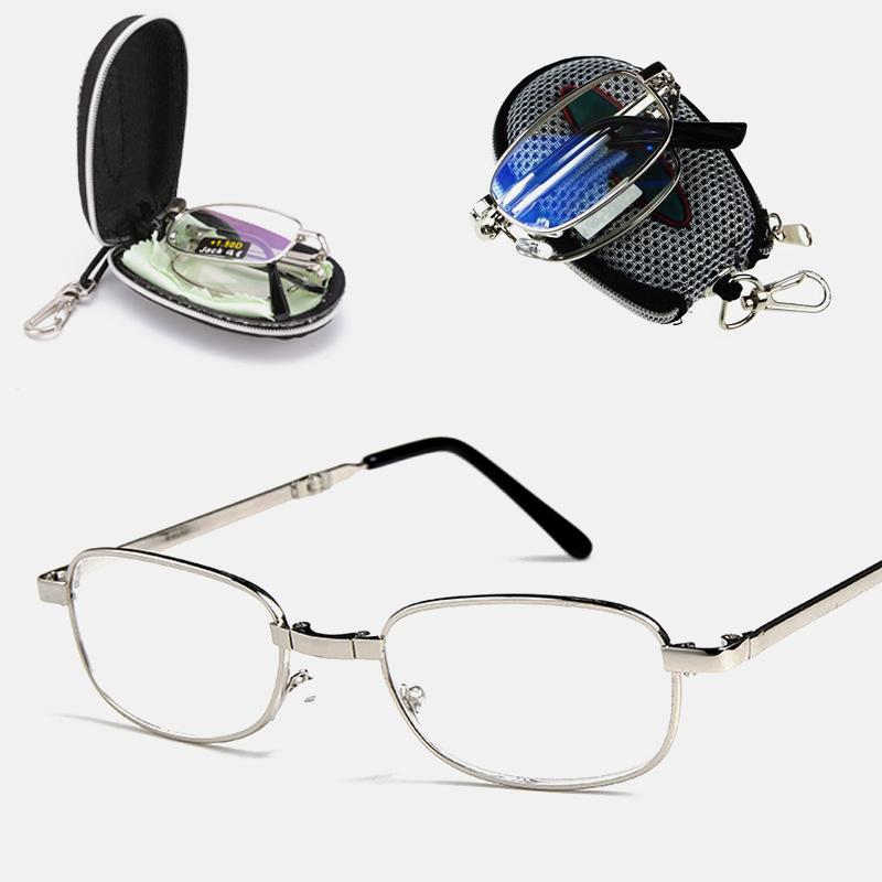 Folding Reading Glasses Magnifier Glasses Frame Men and Women Style High end Versatile Presbyopic Glasses Reading Glasses Unisex