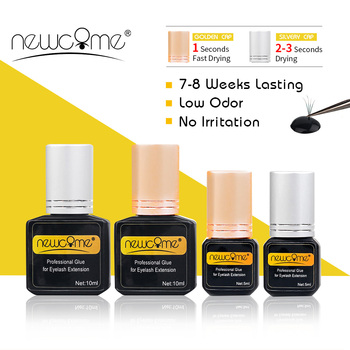 NEWCOME Professional Eyelash Extension Glue 1-3S Drying Time Black Adhesive Low Odor Individual Extensions