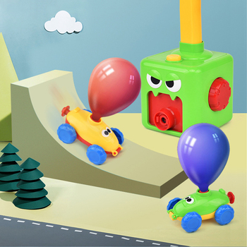 Montessori Kids Car Toys for Children Inertial Power Balloon Car Toy Puzzle Fun Education Science Experiment Toy Balloon Toys flashlight lab toy education series physics generator children experiment circuit teaching science projects for kids stem toys