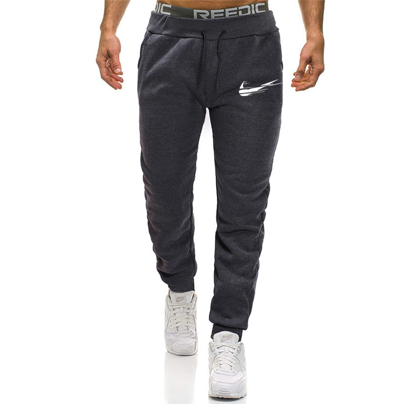 2019 outono dos homens calças de jogging