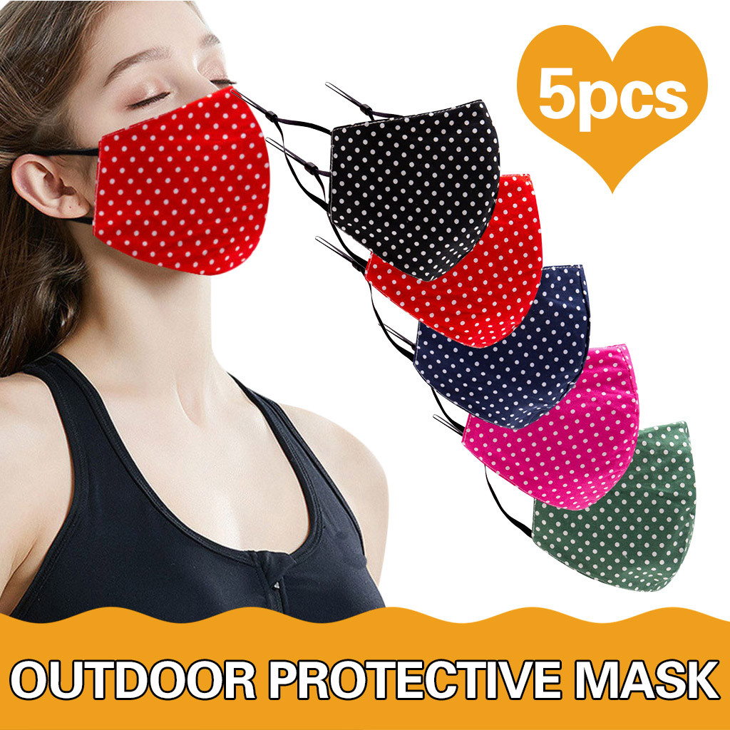 Adult  3PC Cotton Stripe Masks Anti Pollution Face Masks Reusable  Respirat Protective Respirator Breathable Mascarillas Masque