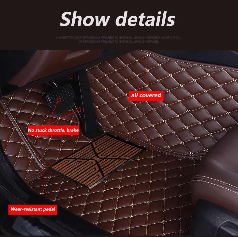SJ TOUS Temps Ajustement Personnalisé Tapis De Sol De Voiture Avant et Arrière FloorLiner Styling Automatique Pièces de Tapis Pour Volvo V60 2011 2012 2013-2017