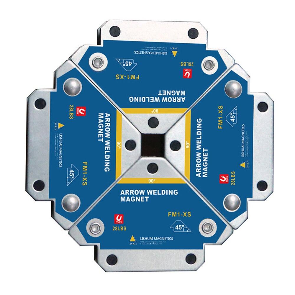 4 шт. портативный магнитный сварочный фиксатор 45 ° 90 ° 135 ° многоугольный магнит Сварочный позиционер ферритовый дополнительный локатор инс...