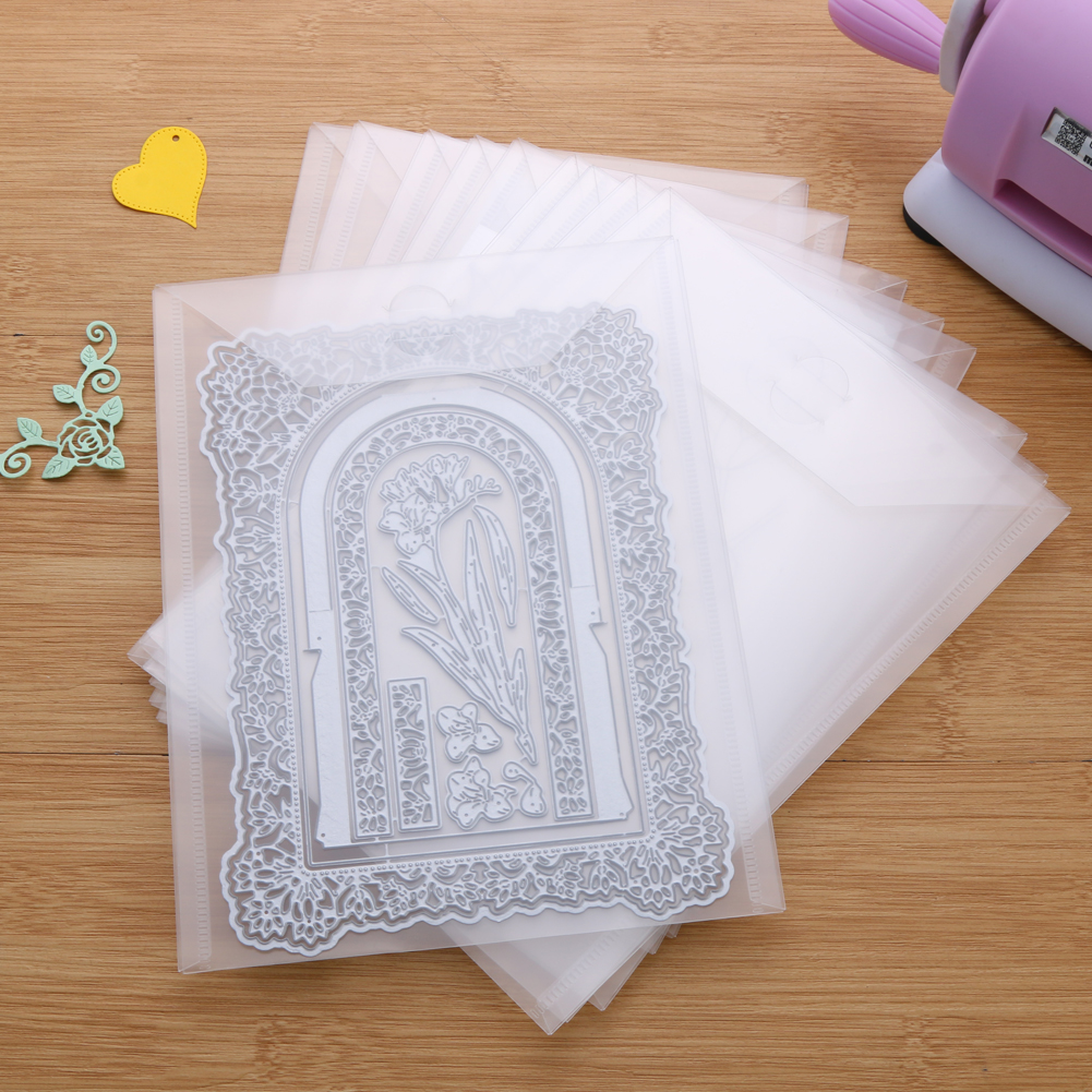 10 Piece Portable Storage Bag Large Size For Storage Cutting Dies Hot Foil Plates Clear Stamps Embossing Folders Organizer Bags