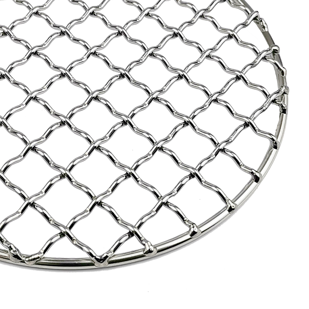 Stainless Steel Grill Net Plate Durable Barbecue Charcoal BBQ Camping Wire Net