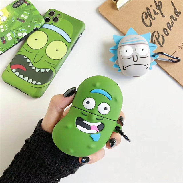 Rick Morty Airpods Case With Keychain Cute
