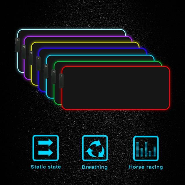 Купить mairuige пользовательский большой rgb коврик для мыши черный картинки цена