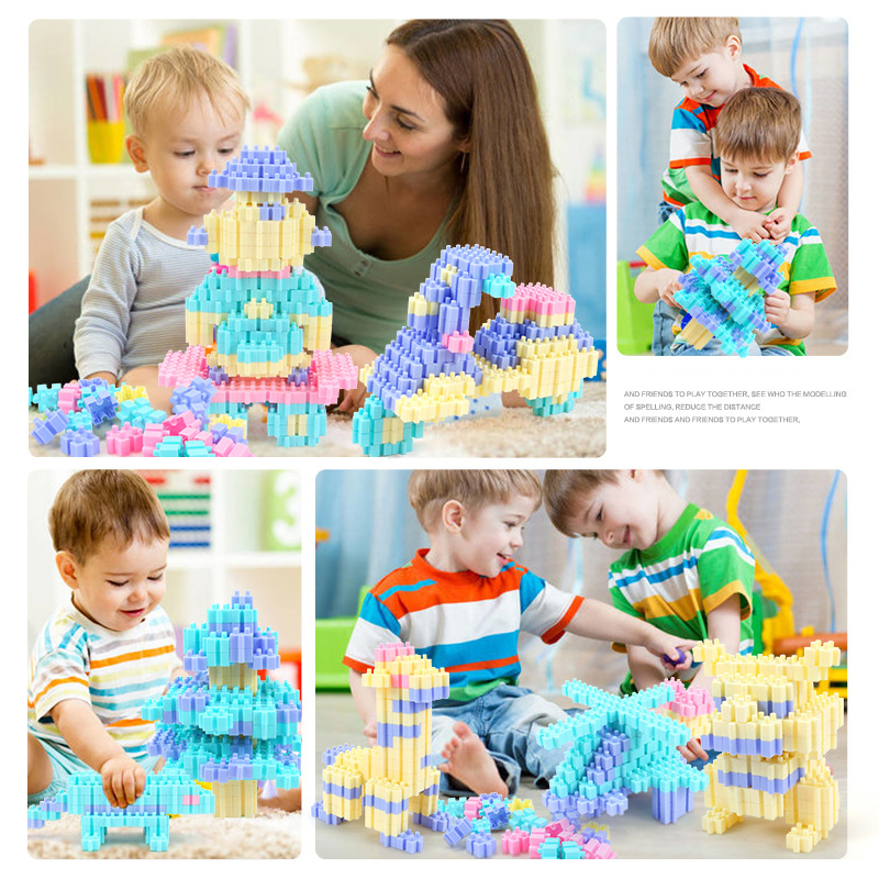 Image 2 - 450PCS Fun Puzzle Building Blocks City Castle House DIY Creative Bricks Block Model Figures Educational Toys For Children Gifts-in Stacking Blocks from Toys & Hobbies