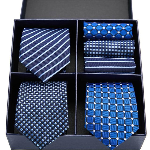 Floral Necktie & Handkerchief Sets 2