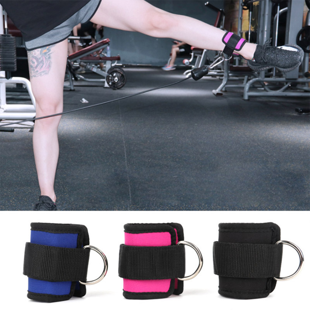 Leg Strength Training Fitness Foot Ring Ankle Buckle Ankle Strap Elastic Band Resistance Band Pull Rope Accessori