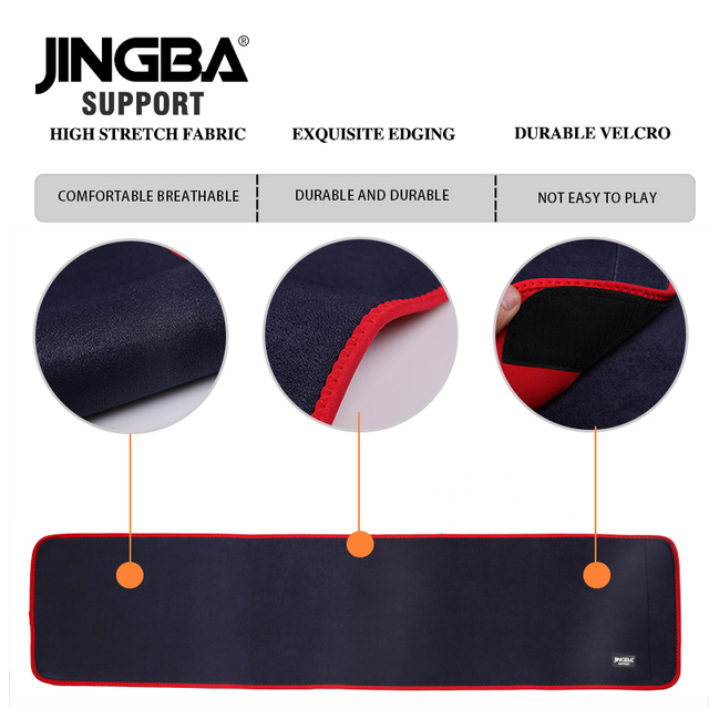 JINGBA SUPPORT Sport waist support belt weightlifting Back Support bar Protective gear Neoprene waist trimmer fitness sweat belt 5