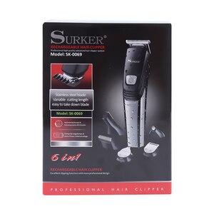 Image 4 - Surker 5 ב 1 מקצועי שיער קליפר USB טעינה שיער גוזם זקן האף גוזם לגברים תספורת מכונת טיפוח מכונת
