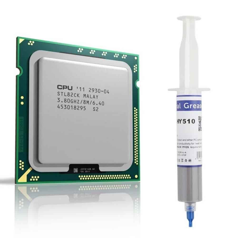 Для светодиодный Процессор графического процессора вентилятор охлаждения 1 ПК, а так же 30 г Серый Термальность силиконовая паста