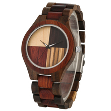 New Fashion Quartz Wooden Watch Male Splice Color Solid Wood Watches Dial Clock Men High Quality Gift relogios masculinos цены