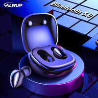 Alwup I9 Tws Bluetooth 5.0 Auricolare Cuffie Senza Fili per Il Telefono Vero Stereo Senza Fili Mini Auricolari di Sport con Il Mic di Ricarica Scatola