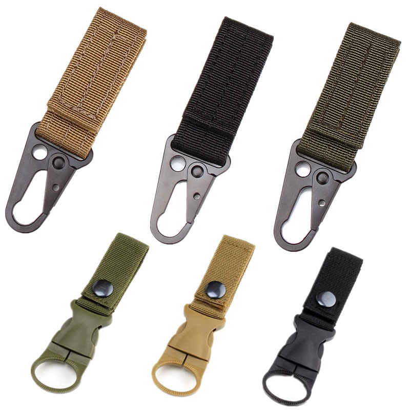 Outdoor Camping Training Belt Nylon Webbing Hook Hunting Lock Buckle Carabiner