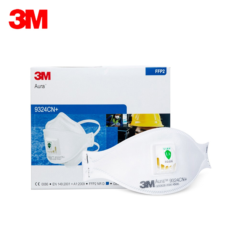3M 9324CN FFP2 N95 CE Facial Mask Self Protection With Valve Aura Dust Respirator Anti PM2.5 Particles Safety Mask