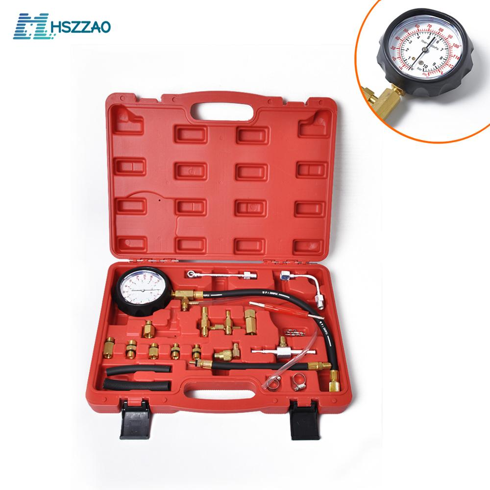 0-140PSI <font><b>Fuel</b></font> Injector Injection Pump <font><b>Pressure</b></font> <font><b>Tester</b></font> <font><b>Gauge</b></font> Kit Car Tools (Master) Auto Accessories image