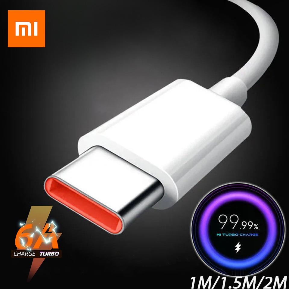 Оригинальное зарядное устройство с кабелем типа C для Xiaomi, быстрая зарядка для Poco M3 X3 NFC F2 Mi 11 9 Black Shark 3 Redmi Note 10 K30 TipoC 1 м 2 м
