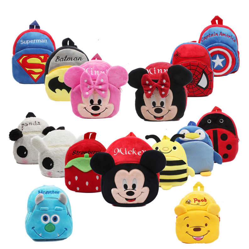 Cartoon Plush Kids School Bags Children Girl Mini School Backpacks Baby Mochila Infant School Bags Boy Backpacks Gift For Kids