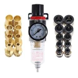 AFR2000 Regulator ciśnienia powietrza Separator wody pułapka filtr sprężarka powietrza z armaturą wspólne dowolna kombinacja