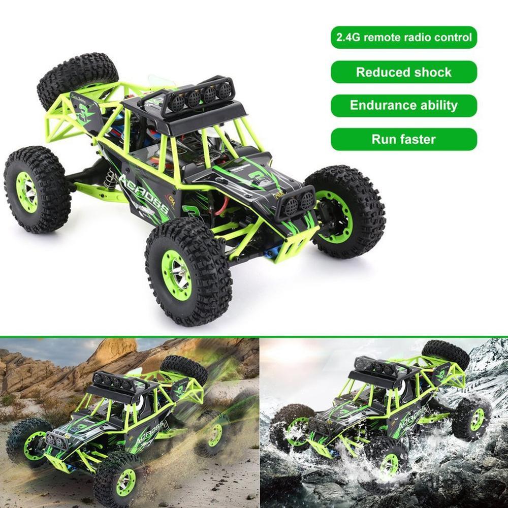 Wltoys 12428 RC Auto Arrampicata Giocattoli 50 KM/H 1/12 Bilancia 2.4G 4WD Telecomando Auto Off road del veicolo regalo del giocattolo Con 1/2/3 Batteria - 3