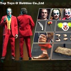 Pre-Verkoop Speelgoed Tijdperk PE004 De Komiek 1/6 Joker Clown Joaquin Action Figure Met 3 Heads Sculpt Body Volledige set Figuur Pop