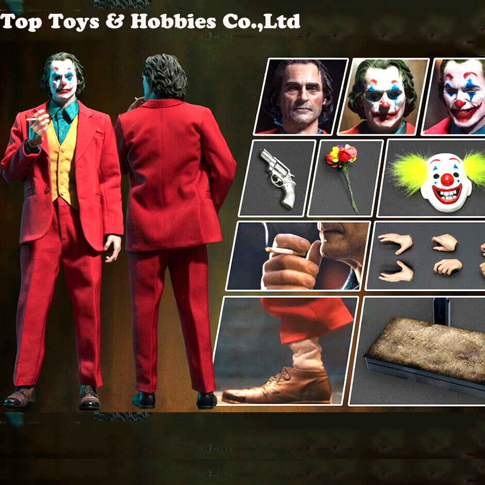 TOYS ERA PE004  The Comedian 1/6  Joker Clown Joaquin Action Figure WITH 3 Heads Sculpt Body FULL SET FIGURE Doll