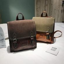 купить New European and American retro academic couple backpack simple fashion Joker shopping bag дешево