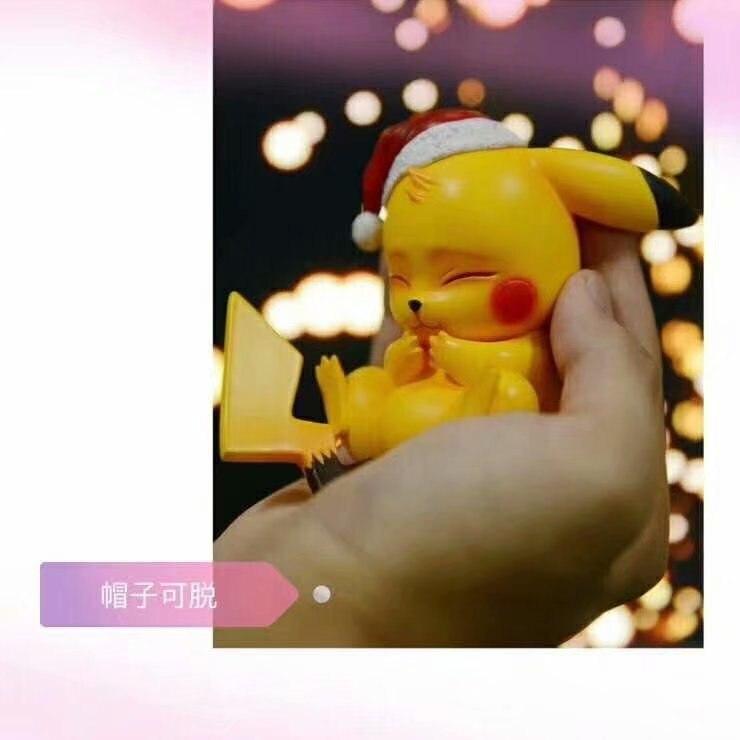 8cm TAKARA TOMY Pokemon Christmas Pikachu Anime Figure Model Toy Gift For Children