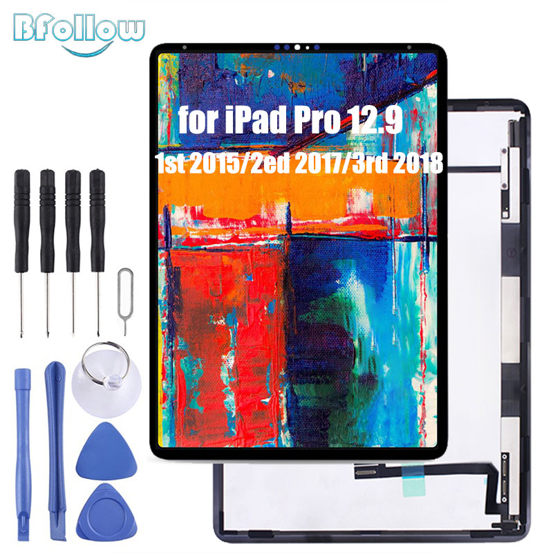 BFOLLOW Original Screen Assembly For IPad Pro 12.9 2015 2017 2018 LCD Touch Glass A1652 A1584 A1670 A1671 A1876 A2014 A1895
