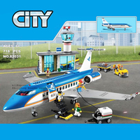 Airport Passenger Terminal Technic City 718pcs Airplane Building Block International Airport Station 60104 Toys For Children