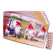 12 шт/компл Рождественская салфетка под приборы обеденный Коврики