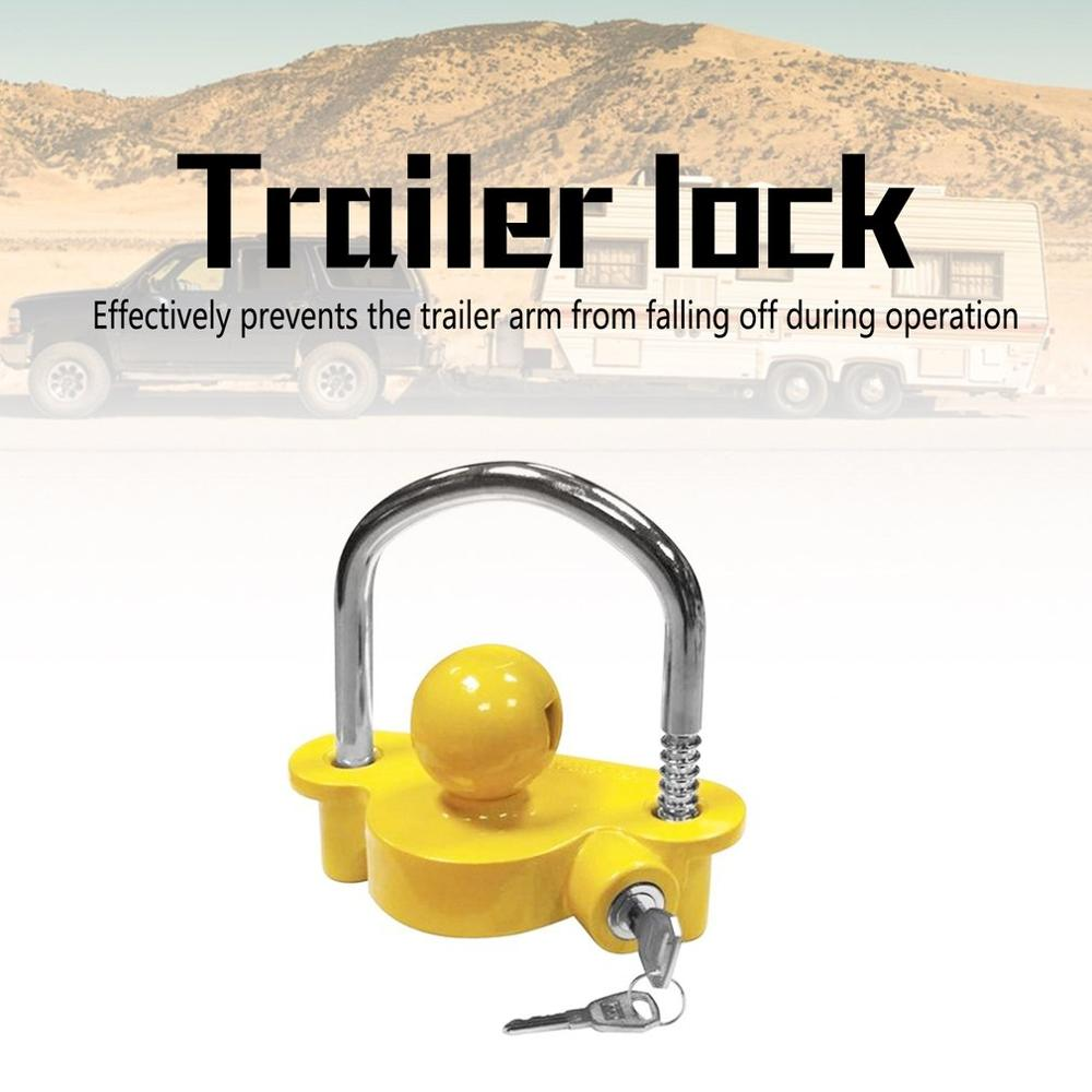Universal  Anti-Theft Lock Ball Caravan Camping Anti Theft Trailer Accessories Hitch Coupling Lock Trailer Parts Tow