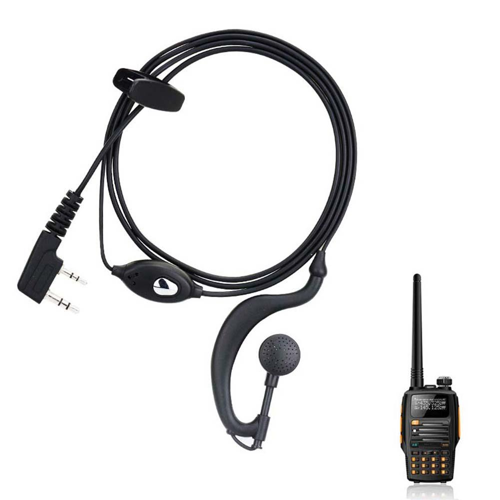 1.5m Plastic + PET Professional Radio Ear-hook Design Earphones For BF UV5R 888S Walkie Talkie