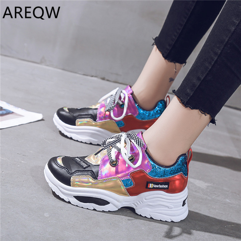 2020 Sneakers Women Fashion Platform Shoes Vulcanize Shoes Womens Casual Krassovki Female Trainers Dad Shoes
