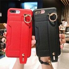 Moda creativa wristband marea cassa del telefono per iphone X XR XS MAX 6 6S 7 8 PIÙ infrangibile staffa resistente scatola di immagazzinaggio della copertura posteriore