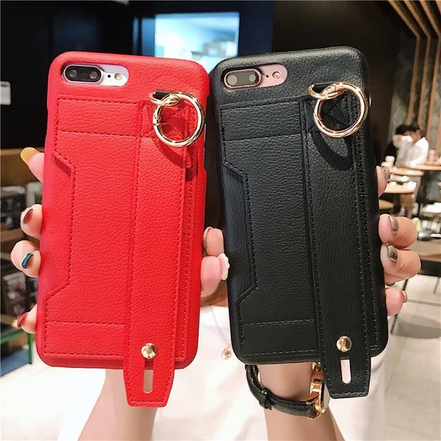 Moda yaratıcı bileklik gelgit telefon kılıfı için iphone X XR XS MAX 6 6S 7 8 artı paramparça dayanıklı braket saklama kutusu arka kapak